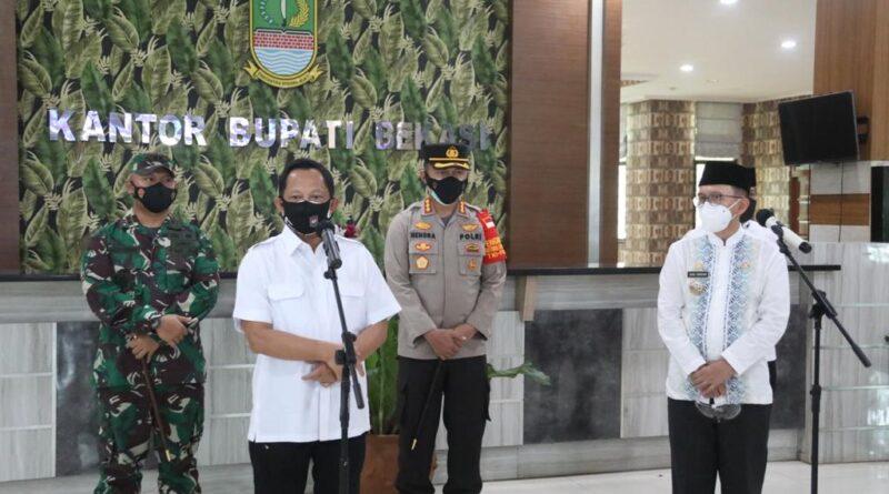 Di Kabupaten Bekasi, Mendagri Minta Mata Anggaran Pengendalian Pandemi Covid-19 Segera Direalisiasikan