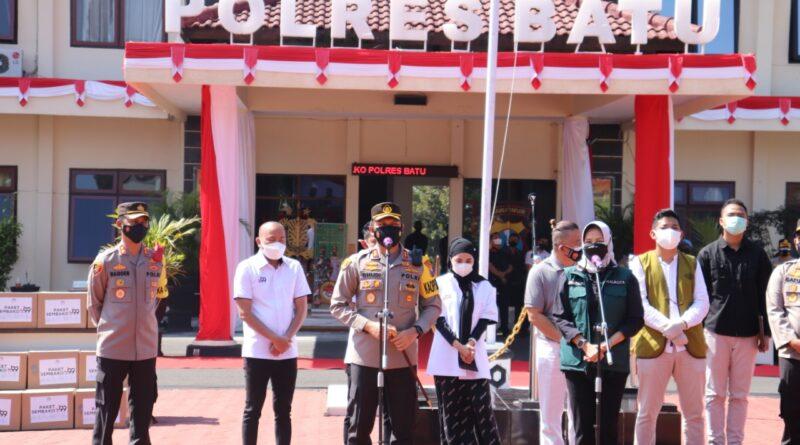 Pengusaha Dan Polres Malang Raya Peduli NKRI Untuk Salurkan Bansos Kepada Masyarakat Terdampak Covid-19