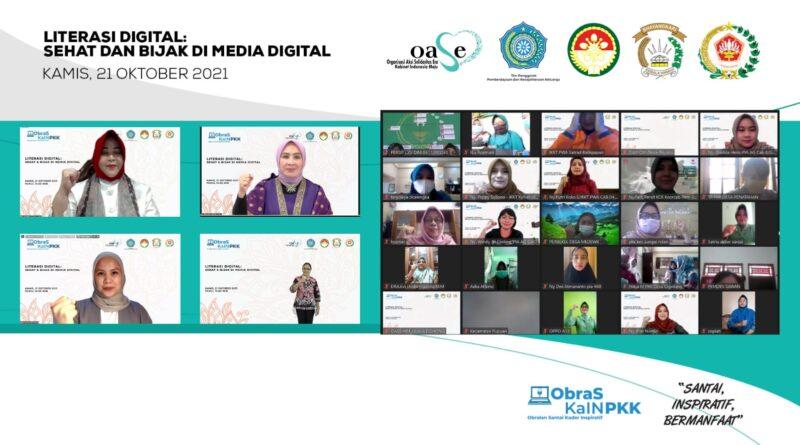 Obras Kain PKK Bersama Oase KIM Ajak Masyarakat Melek Literasi Digital